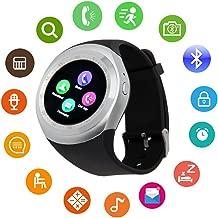 Bluetooth Smart Watch Touch Screen DMDG Smart Fitness Watch Touch Screen Unlocked Watch Cell Phone Sim Card Slot,Smart Wrist Watch Kids Girls Boys Men Women (Silver)
