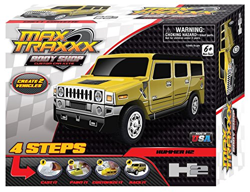 Max Traxxx Award Winning Body Shop PerfectCast Hummer H2 Car Cast, Paint and Play Craft Kit