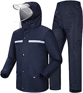 Coutyuyi Waterproof Jacket & Trouser Suit Raincoat Unisex Rain Suit Outdoor Anti-Storm Hooded Rainwear