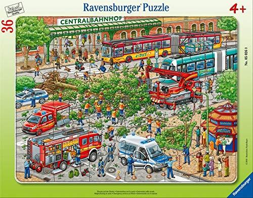 Ravensburger Kinderpuzzle 05026 - Einsatz auf der Straße - Rahmenpuzzle