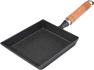 Sartén de tortilla antiadherente japonesa, no espesar plancha de revestimiento Sartén cuadrada portátil Huevo escalfado Cocina pequeña