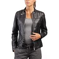 Western Leather Women's Lambskin Leather Bomber Biker Jacket