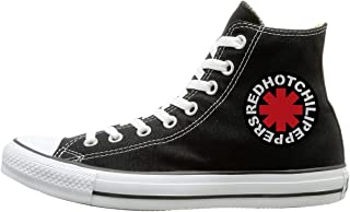 Man Woman High-Top Classic Sports Shoes Red Hot Chili Peppers Logo Lace-up Sneakers Shoes