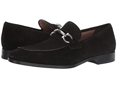 Salvatore Ferragamo Benford Bit Loafer (Black Suede) Men