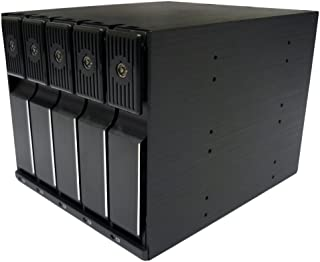 ディラック Stack Gateシリーズ 3.5インチディスク対応トレーレスリムーバブルケース HotSwap対応 5Bayモデル ブラック DIR-SG350