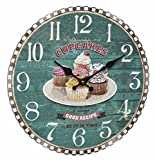 Vintage diseño reloj de pared Sweet Cupcakes 60.3045.13