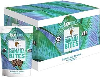 Barnana Organic Chewy Banana Bites - Coconut - 3.5 Ounce, 12 Pack Bites - Delicious Barnana Potassium Rich Banana Snacks - Lunch Dinner Sports Hiking Natural Snack - Whole 30, Paleo, Vegan