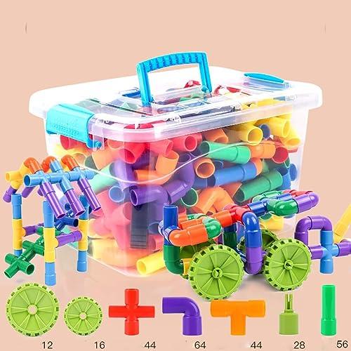 Kinderbausteine  asserpfeifen aus Plastikspielzeug, Jungen und mädchen Baby Puzzle Kampf eingefügt
