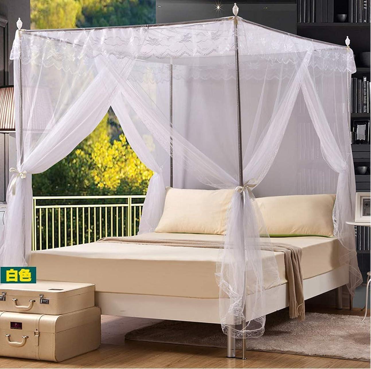 価値のない無駄に民兵スクリーンドア、蚊帳パレススタイルのテント、ダブルベッドキャノピー、開口部3つ付き蚊帳スクエアトップ、高さ2メートル