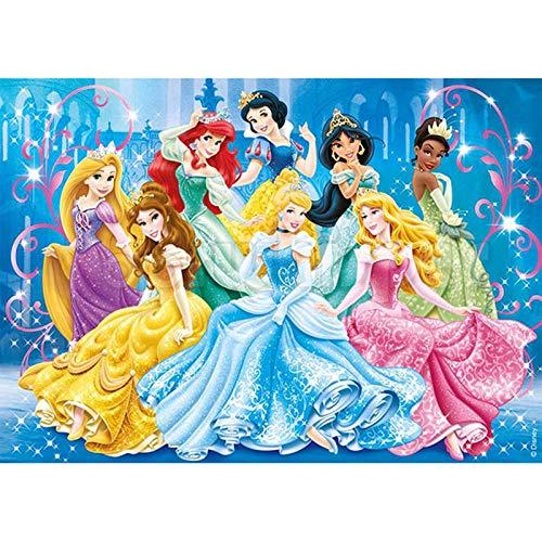 Cuadro de diamante 5D DIY de punto de cruz con diamantes de imitación de diamantes de imitación, manualidades para decoración de la pared del hogar, regalos de princesa Disney 40 x 30 cm