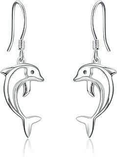 Dolci delfino balena Pesce Orecchini a bottone in puro argento 925 delfini Bambini//Orecchini