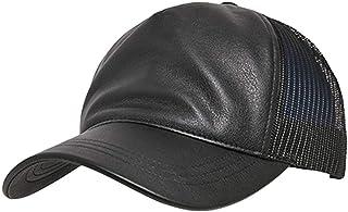 Flex fit Leather Trucker Cap