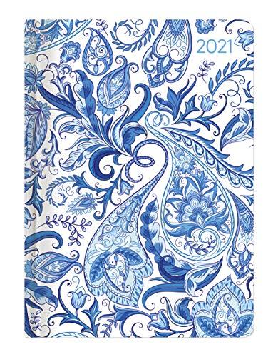 Alpha Edition - Agenda Settimanale Ladytimer 2021, Formato Tascabile 10,7x15,2 cm, Paisly, 192 Pagine