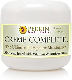 Creme Complete- All Natural, Restorative & Anti-Aging skin care. A Corrective Moisturizer for Sun Damage, Lichen Sclerosus, Rosacea, Eczema, Psoriasis, Actinic Keratosis, and Wrinkles.