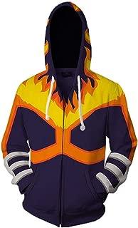 NoveltyBoy My Hero Academia Endeavor Sweatshirt Zip Up Hoodie Jacket Pocket Coat Cosplay Costume Unisex