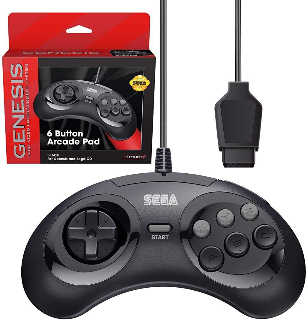 Retro-Bit Official Special price Sega Genesis Controller 6-Button Arcade f Bombing free shipping Pad