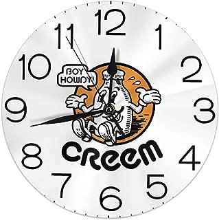 Melinda Perrodin Boy Howdy! Creem mag - Reloj de Pared Redondo, Reloj Elegante, Pintura al óleo, Reloj Digital, Silencio