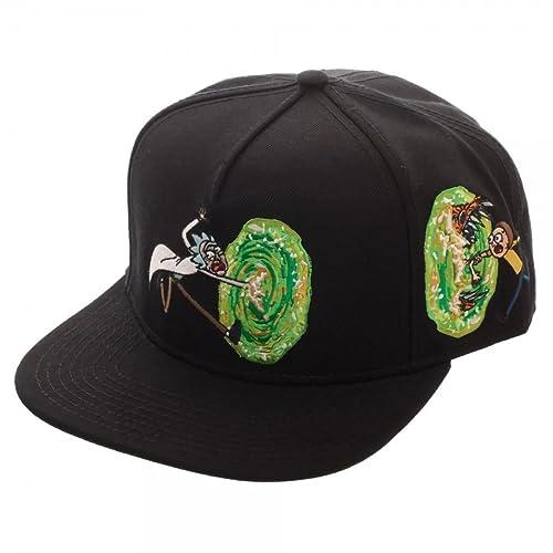 Rick and Morty Portal Black Adult Swim Snapback Hat 55859c41fea3