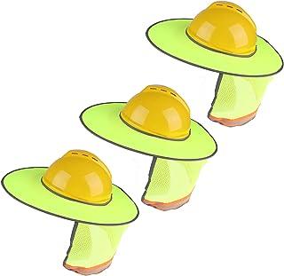 Xgood 3 Pieces Hard Hat Sun Shade Sunshade Neck Shield with Full Brim Hard Hat Sunshade Reflective Stripe Foldable Neck Sh...