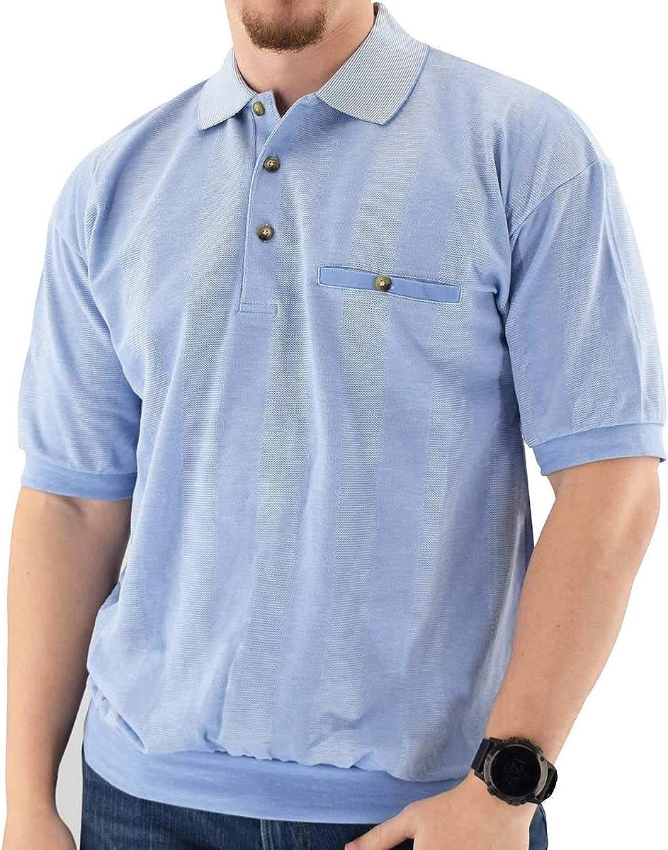 Classics by Palmland Short Sleeve Banded Bottom Shirt 6070-245 Light Blue - Big and Tall