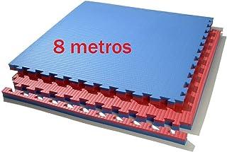comprar comparacion Grupo Contact 8 Metros de Tatami Puzzle 100 x 100 x 4 cm. (Rojo/Azul)