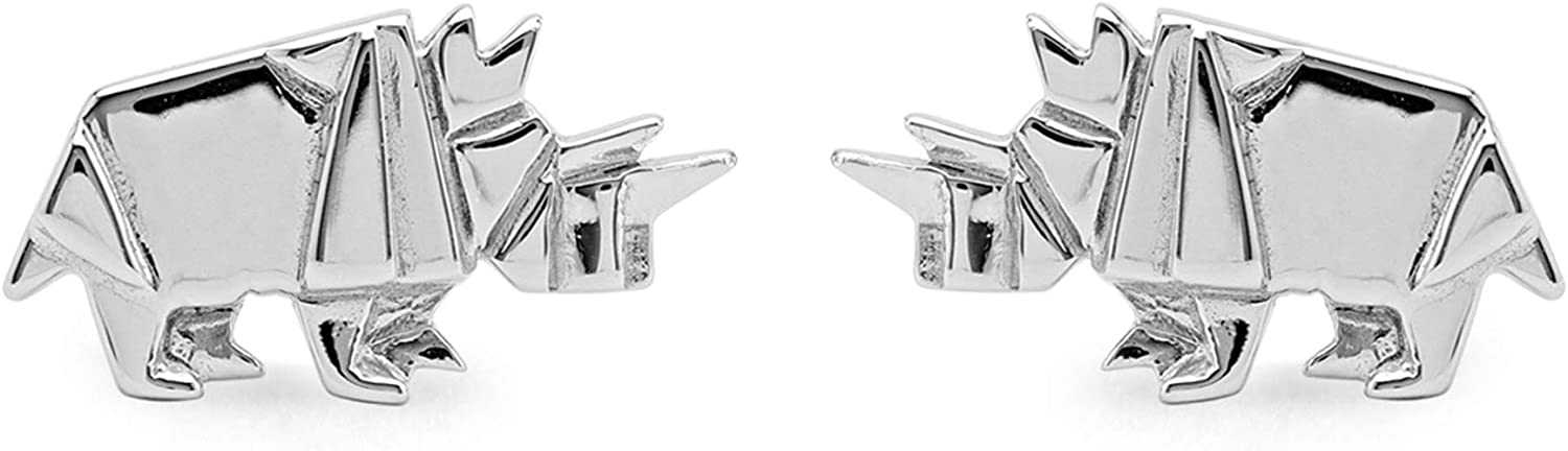 Boma Jewelry Sterling Silver Rhinoceros Stud Earrings Our shop OFFers All items in the store the best service Origami