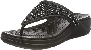 Crocs Monterey Shimmer Wedge Flip, Sandale cale Femme