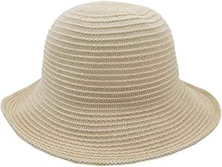 QinMei Zhou Korean Version of The Spring and Summer New Women's Collapsible Sun hat Bamboo and Linen Sun Protection Sun hat hat Cap Fisherman hat (Color : Beige, Size : M56-58cm)