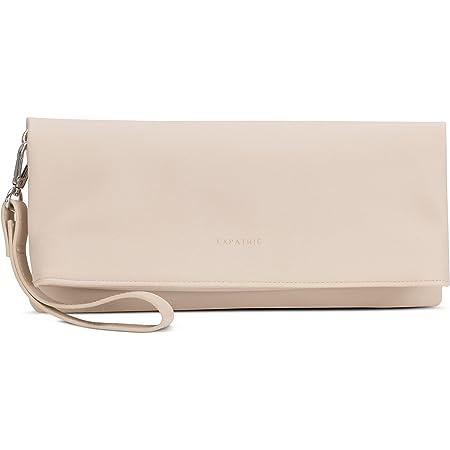 Expatrié Clutch Marie Damen Handtasche aus Veganem Leder - PU Ledertasche Abendtasche Umhängetasche Tasche Schultertasche - Elegante Clutch & Schultertasche in Einem