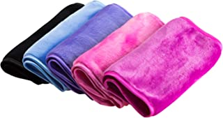 Nugilla Makeup Remover Cloth 5 Pack - Chemical Free,Reusable Microfiber Cleansing Towel,Suitable for All Skin Types,Move Makeup Instantly with Just Water,Multiple Colours