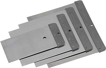 Meister Japanse plamuurset 4-delig - 50 mm, 80 mm, 100 mm en 120 mm - blad van verenbandstaal - zuurbestendig en flexibel...