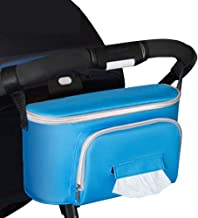 Stroller Organizer High Capacity Stroller Bag Multiple Pockets with Strap Large Storage Space