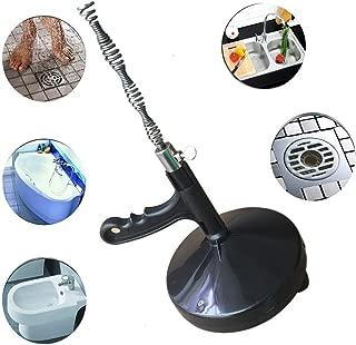 LOHOX Drain Auger Snake, Metal Spring-Steel for Toilet Sewer Sink Snakes Plumber Cleaner Closet Drum Plumbing Tool, Sewer/Bathtub Drain/Kitchen (Black)