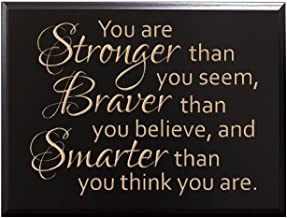 TimberCreekDesign You are Stronger than you seem, Braver than you believe, and Smarter than you think you are. by Christopher Robin Decorative Carved Wood Sign Quote, Black