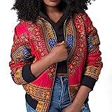 Afrique Imprimer Court Manteau Veste/Blouson/Jacket Bomber,Covermason Femmes à Manches Longues Dashiki Casual Veste Manteau Outwear Zipper Manteau Court