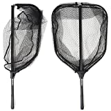 BLISSWILL Large Fishing Net Collapsible Fish Landing Net with Extendable Handle Knotless Nylon Fishing Net Safe Fish Net Durable Telescopic Dip Net for Fishing
