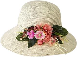 OKWIN Cappello di Paglia per Bambini Sun Beach Fedora Berretti Stile Classico a Tesa Corta