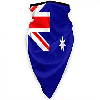 Windproof Face Mask Head Scarf Flag Of Australia Sport Neck Warmer Gaiter Skiing Face Scarf Mask