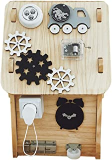 Wooden Children's Busy Room,Kindergarten baby educational cognitive toys,Montessori Enlightenment Busy Room Toys(25 cm * 2...