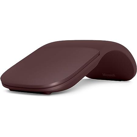 Microsoft Surface Arc Mouse - Ratón (Ambidextro, Bluetooth, Rojo)