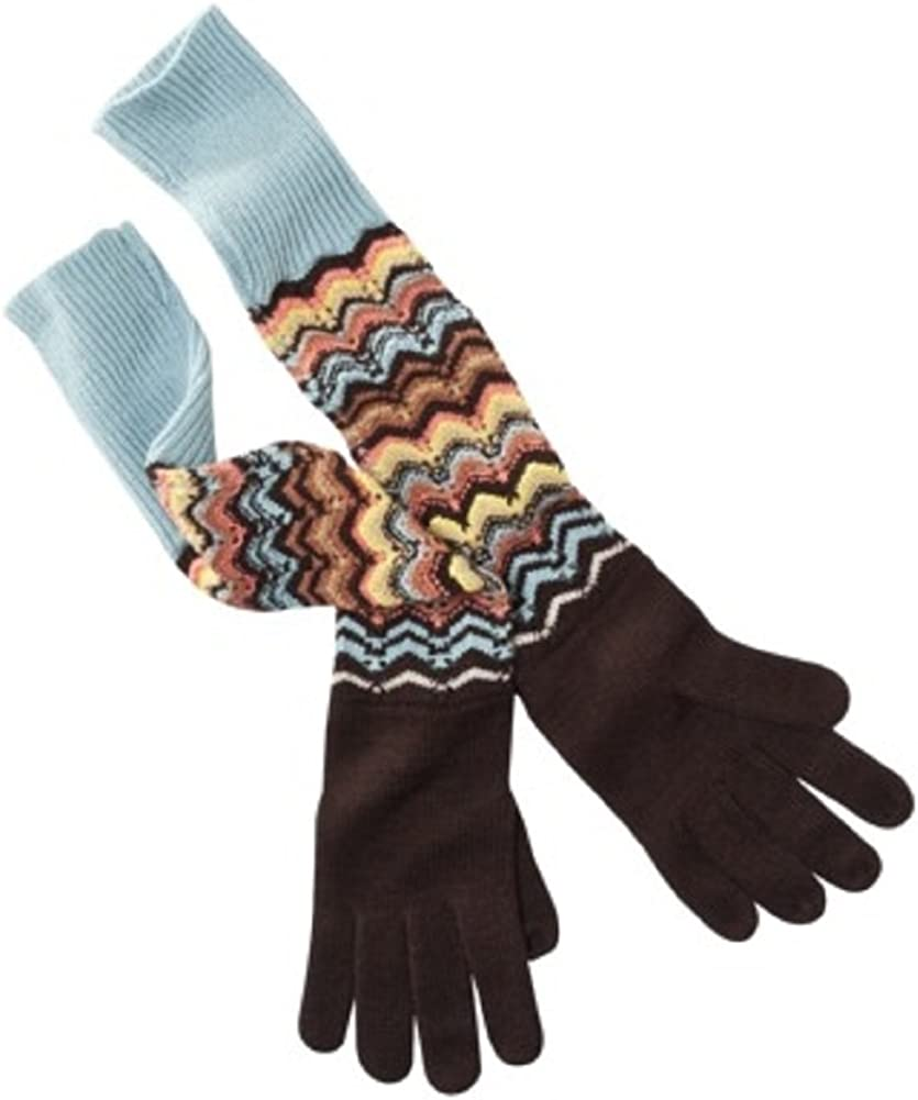 MISSONI for TARGET Long Winter KNIT GLOVES Brown Multi-Colored O/S