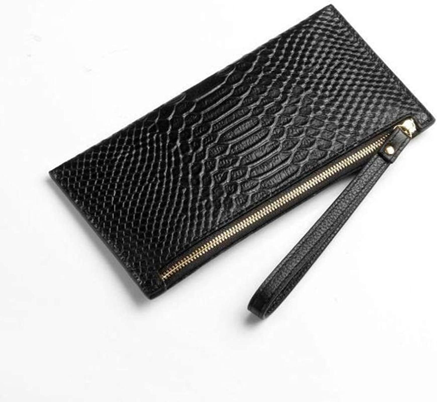 Girls Purse Ladies Wallet Large Fashion Wallet Lady Cowhide Purse Capacity Hand Pull Bag
