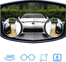 "YBERLIN Car Blind Spot Mirrors,Upgrade 2"" Round HD Glass Frameless Side Rainproof Coating Convex Rear View Wide Mirror with Adjustable Wide Angle,Universal Driver&Passenger Side Mirrors,Pack of 2"