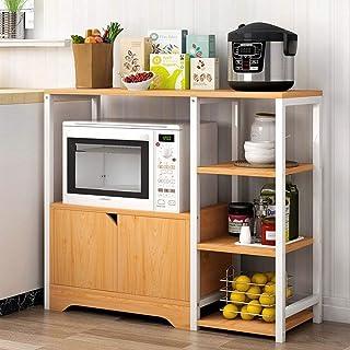 YIJIAHUI-Home Estante de Horno para microondas Estante de la Cocina del Panadero de la Vendimia Storage Utility Shelf Micr...