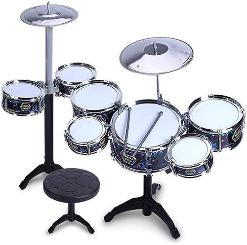 HXGL-Tambour Enfants Tambours Tambours Musique Jouets éducatifs Percussions éducation précoce Battre Tambour Couleur en Option Noir Rose (Couleur   Noir)