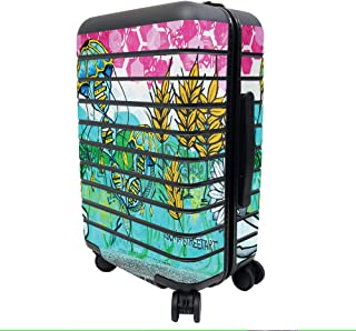 MightySkins Skin Compatible with Away The Carry-On Suitcase - Mother Garden   Protective, Durable, and Unique Vinyl Decal ...