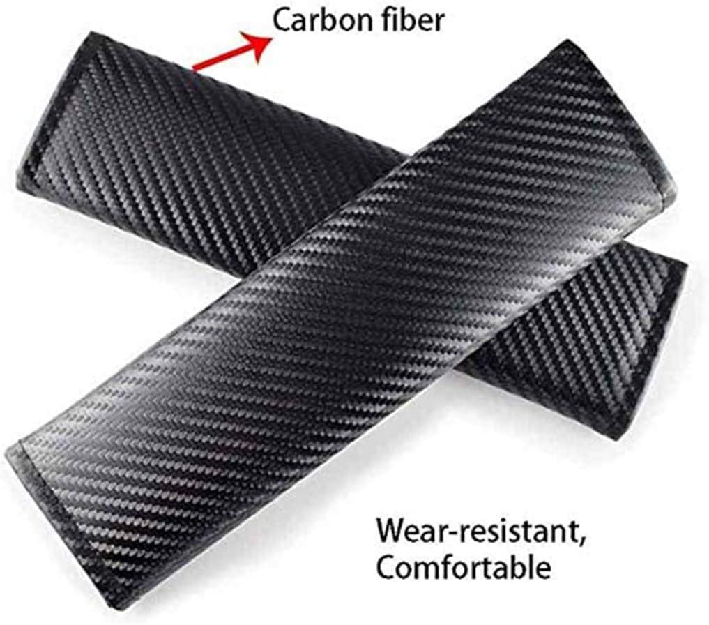 Soft Comfort Seat Belt Padding Cushion QYHL 2Pcs Carbon Fibre ...
