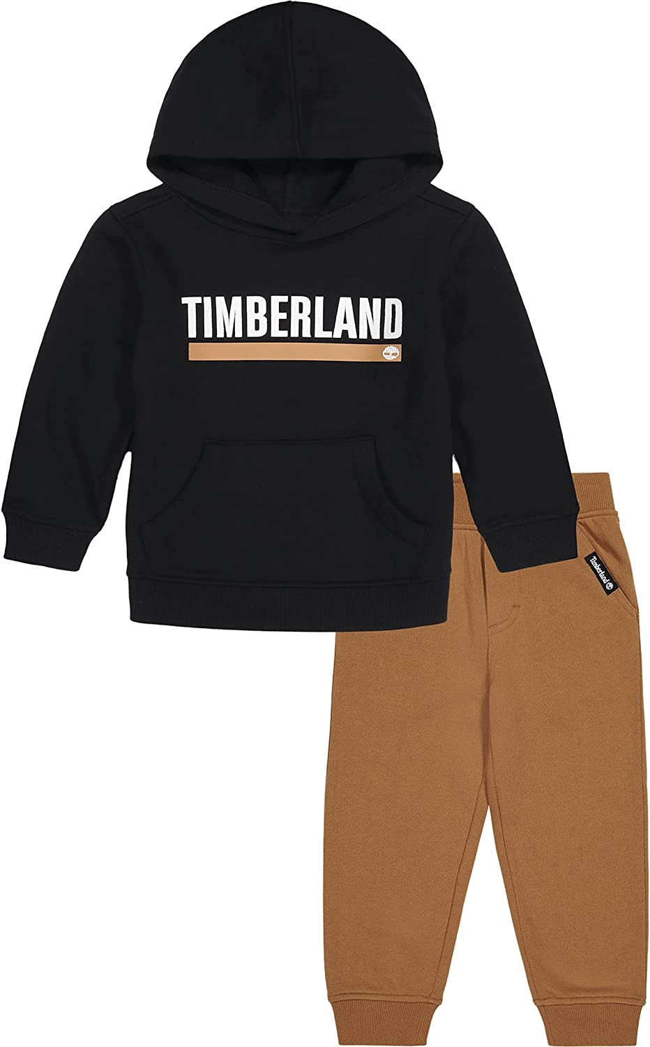 Timberland Baby Boys' 2 Pieces Hooded Pullover Pants Set