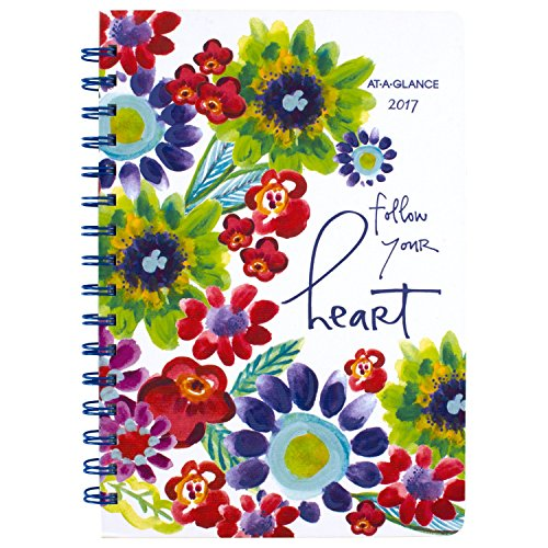 """AT-A-GLANCE Weekly / Monthly Planner / Appointment Book 2017, 5-1/2 x 8-1/2"""", Kathy Davis (635-200)"""