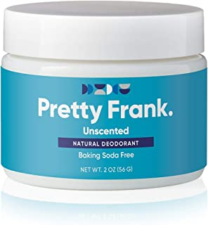 Pretty Frank Natural Deodorant Jar- Baking Soda Free Natural Deodorant for Women, Men, Teens, Kids – Paraben Sulfate Free ...